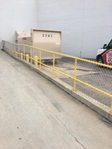 Commercial safety fence installation