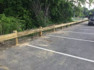 Wooden fence commercial installation 2