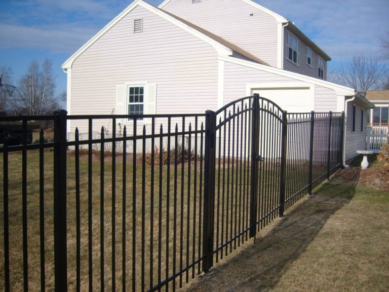 Steel fence residential