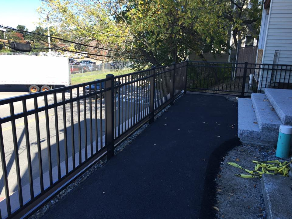 black metal fence residential
