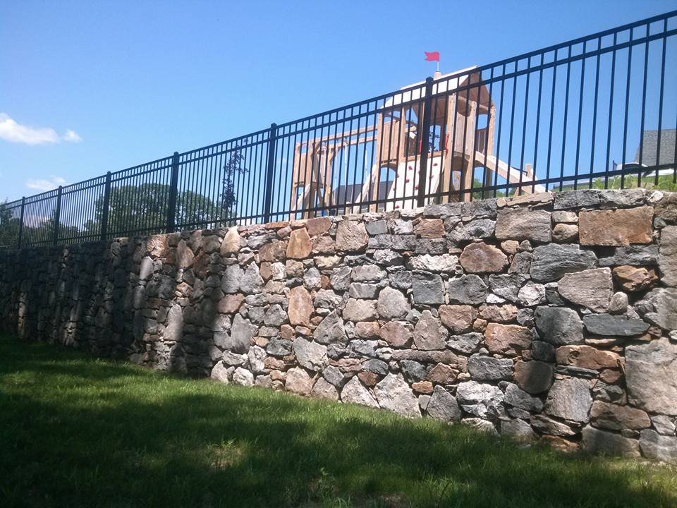 Iron fence commercial installation