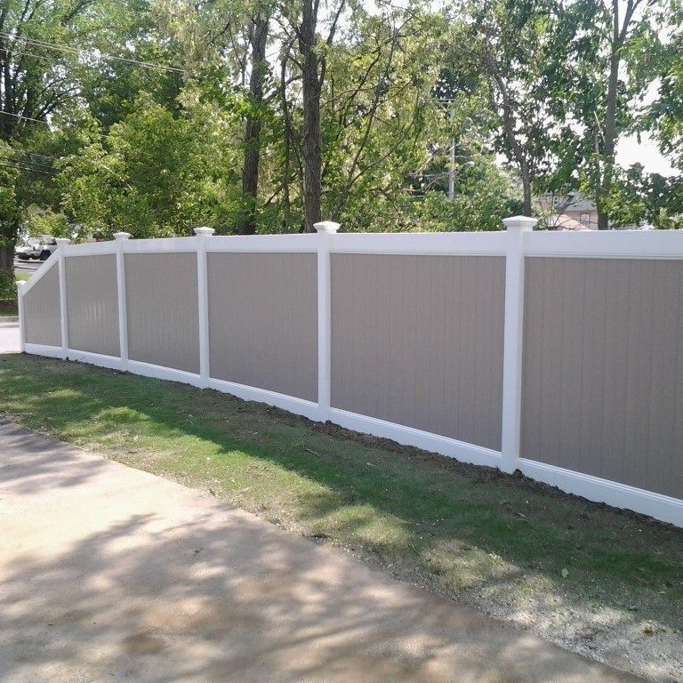custom wood fence with vinyl coating 5