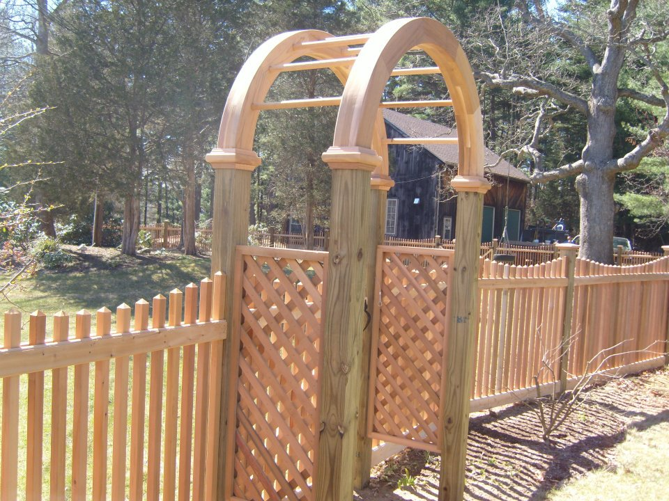 custom gate fence pergola 2
