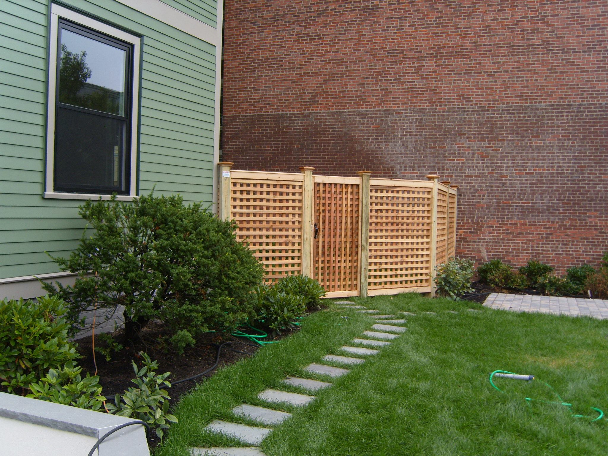 custom wood fence installation 2