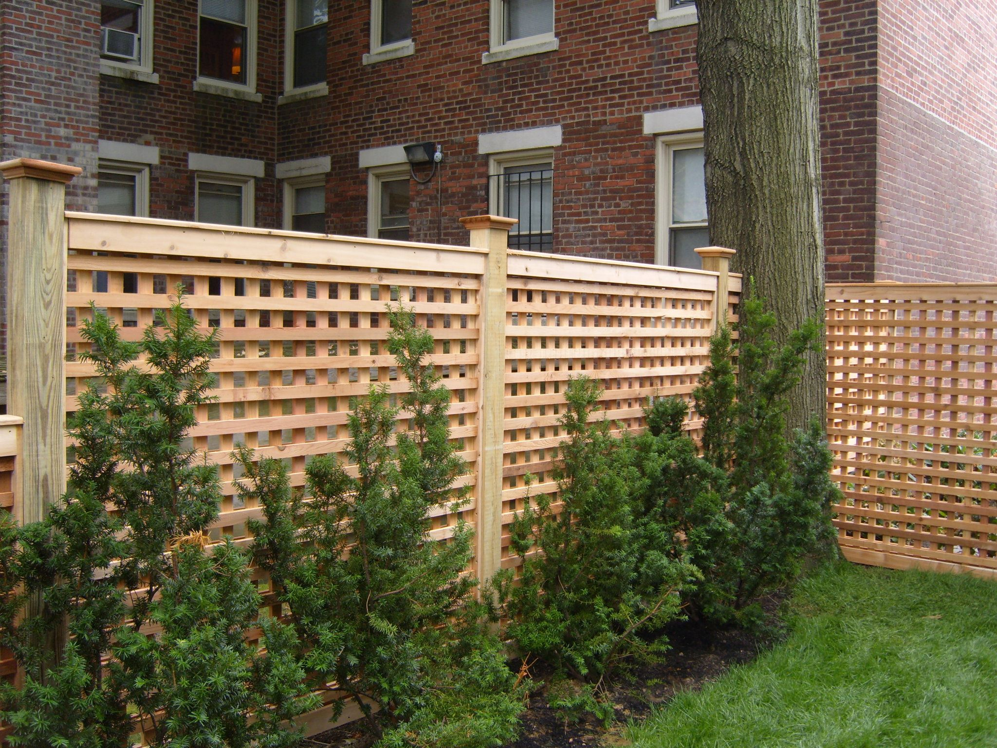 custom wood fence installation 3