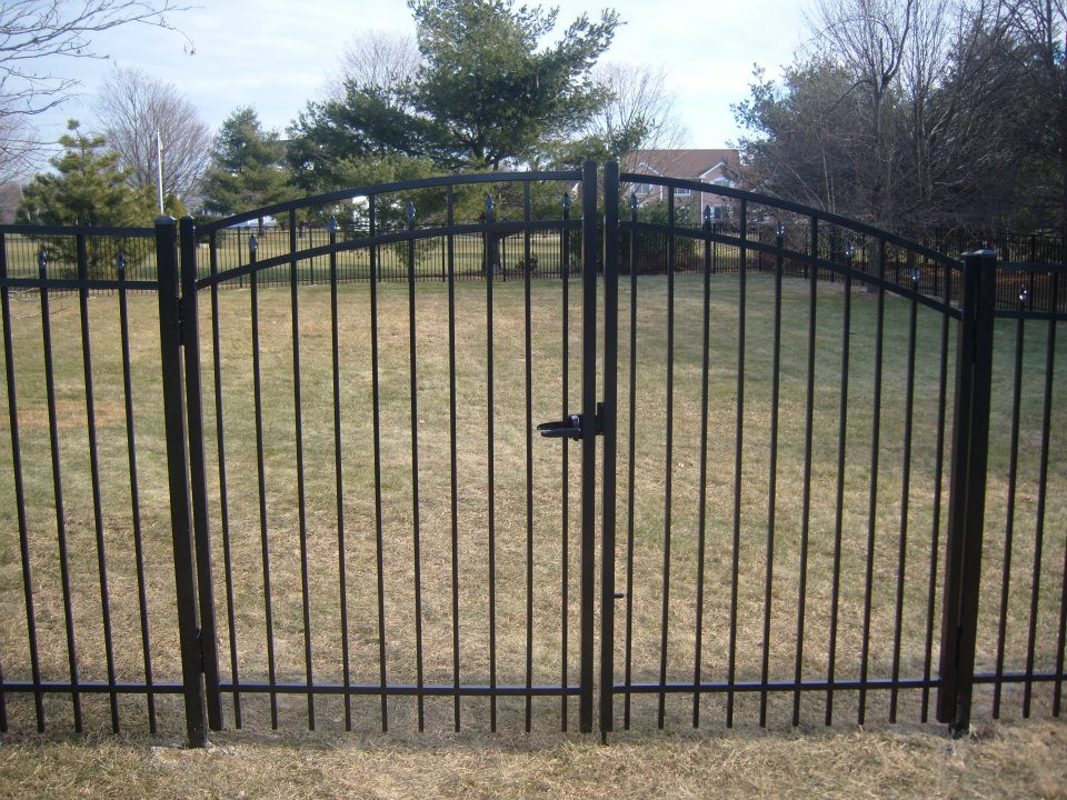 gated metal fence installation project