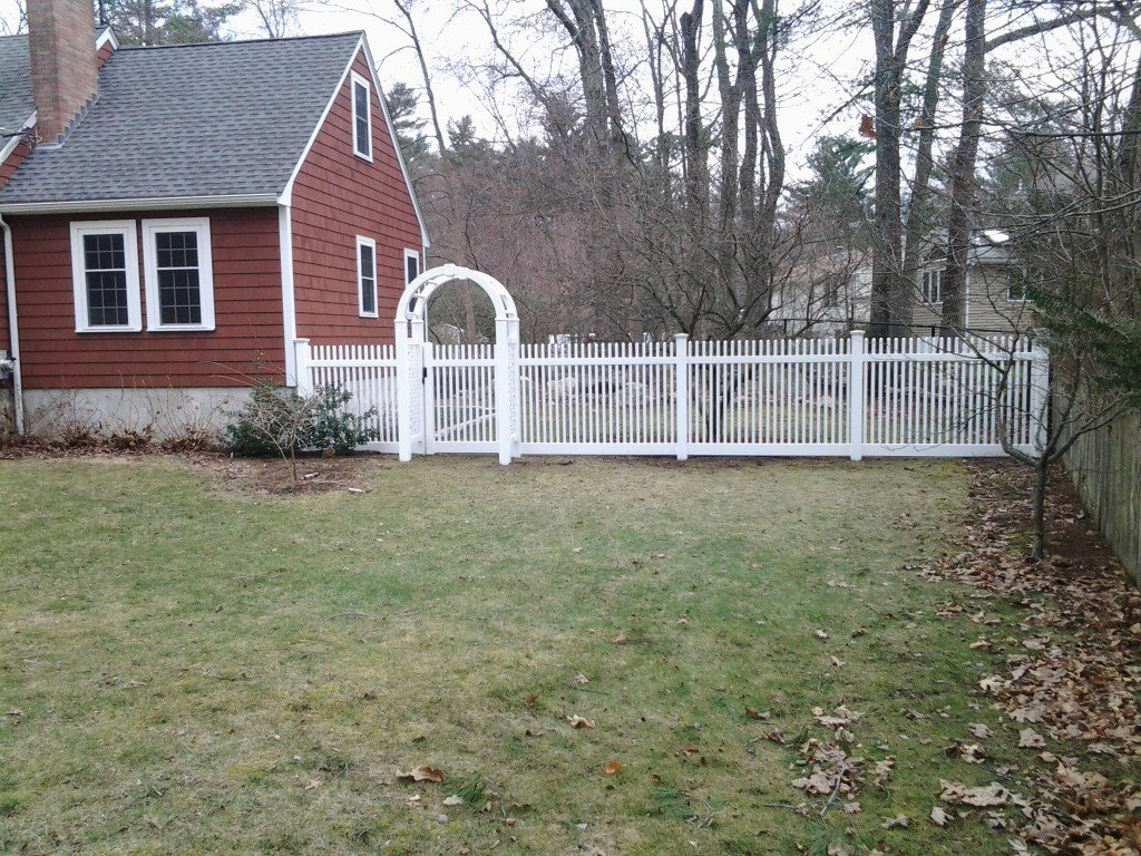 gated picket fence