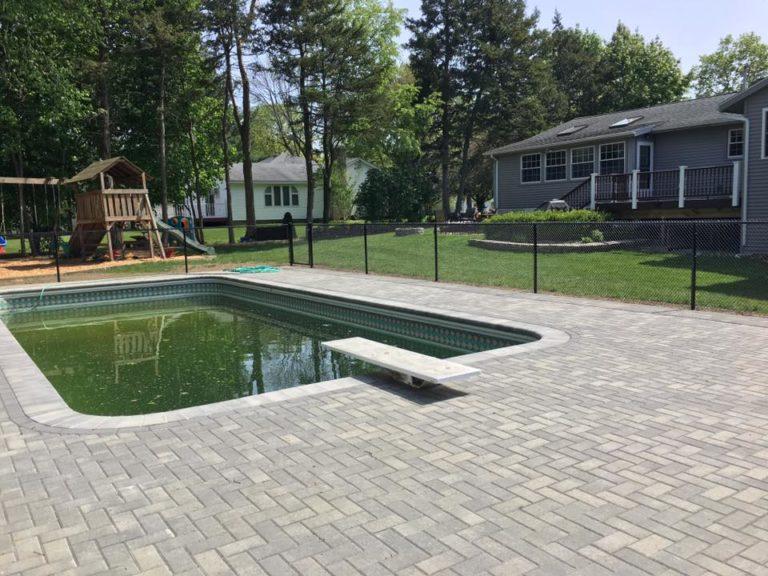Massachusetts chain link pool fence