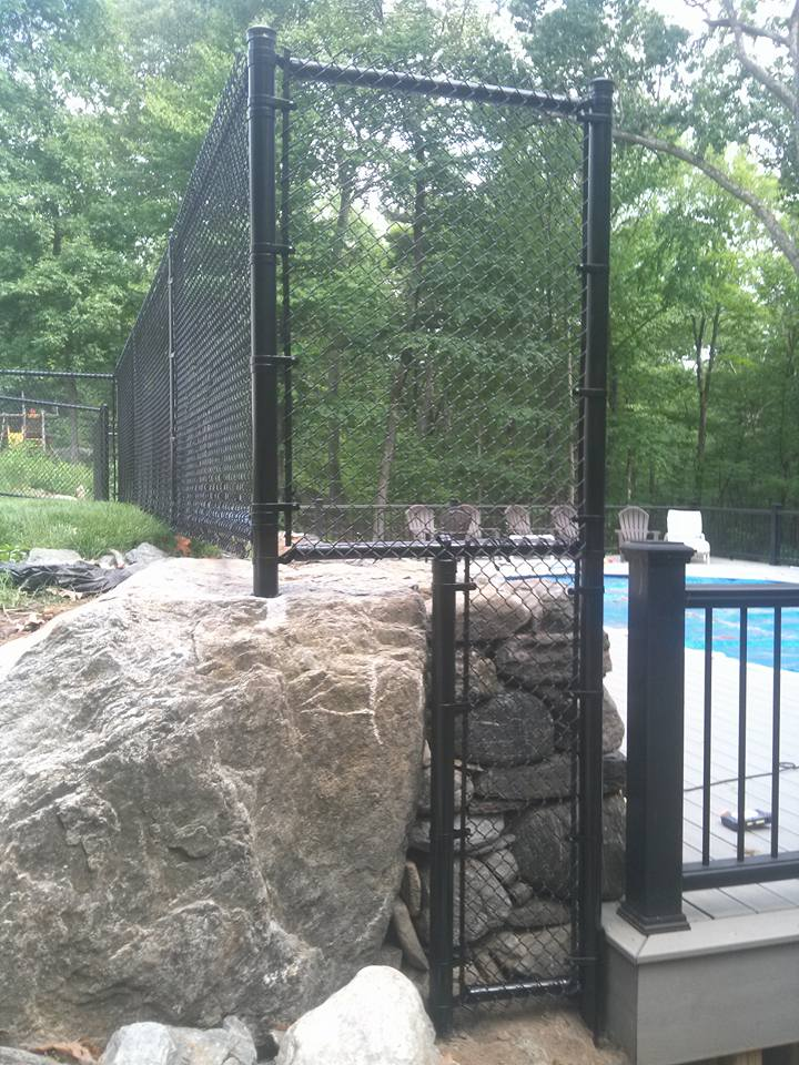 chain link pool fence in massachusetts