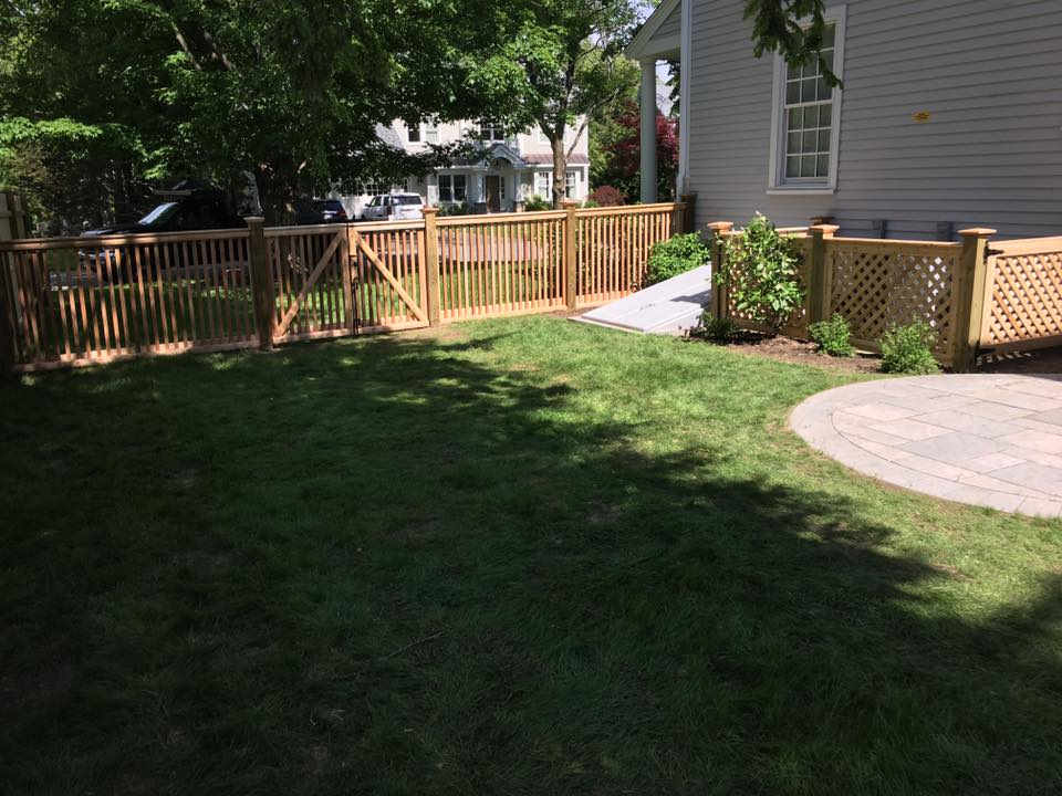 residential wooden fence massachusetts