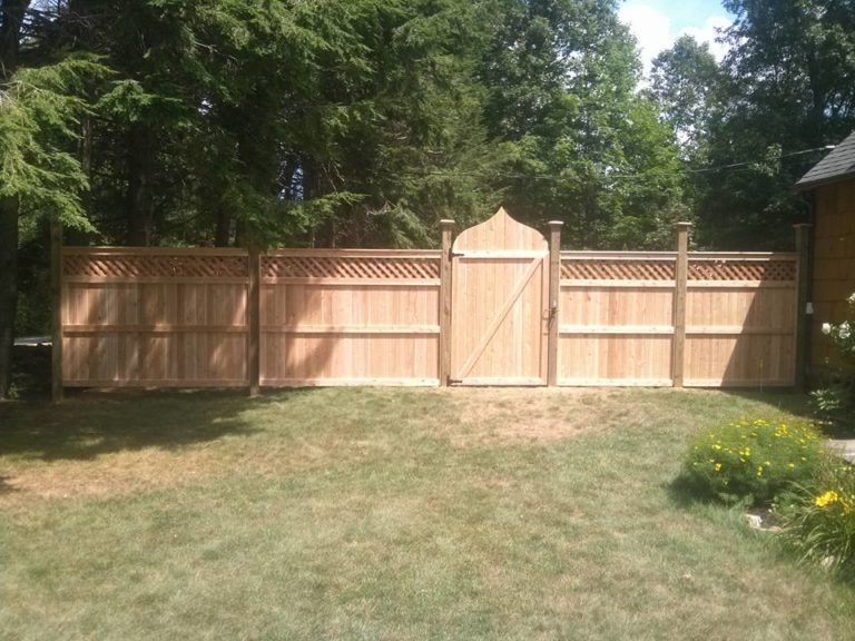 wooden gate fence