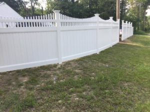 wooden picket fence residential