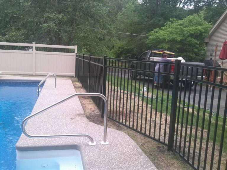 metal pool fence in massachusetts